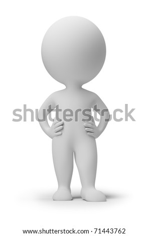 3d small people. 3d image. Isolated white background. - stock photo