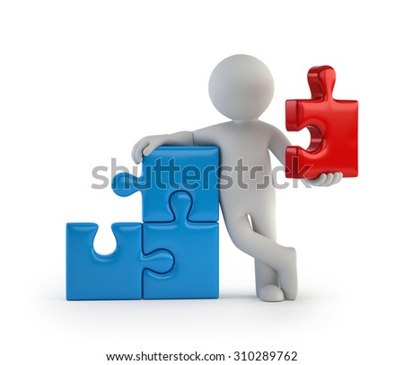 3d small people - main part - stock photo
