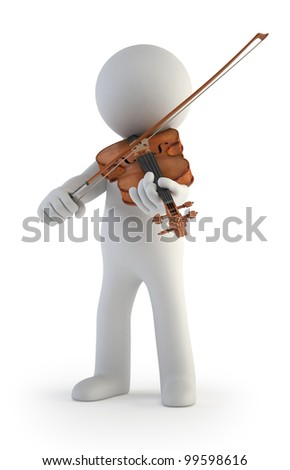 3d small people - Violin - stock photo