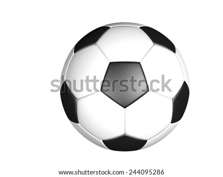 3d Soccer ball isolated on white background - stock photo