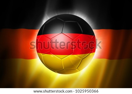 3D soccer ball with Germany team flag, world football cup Brazil 2014