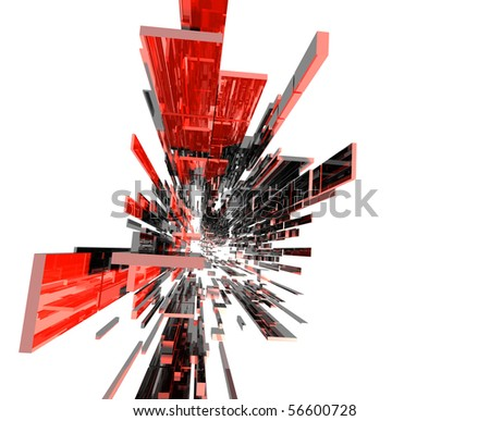 3D space - stock photo