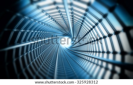 3D Space tube - stock photo