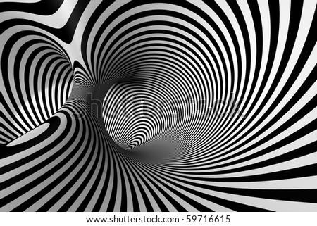 3D Spiral - stock photo