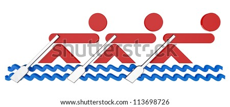 Team Rowing Clipart 3d Rowing Teams Symbol