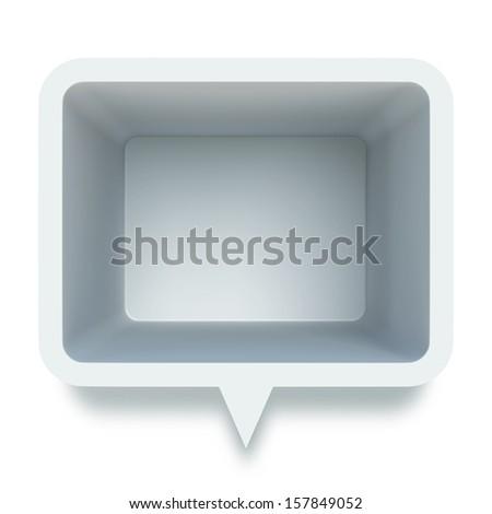 3D Square bubbles speech, design element. isolated - stock photo