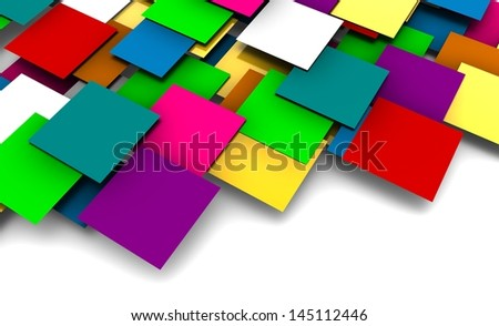 3D Squares Background with a Futuristic Concept