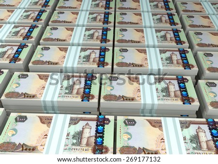 3D stack Piles of United Arab of Emirates money - stock photo