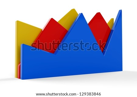 3D Statistic Graph - stock photo