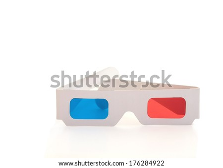 3d Stereo glasses isolated on the white background - stock photo