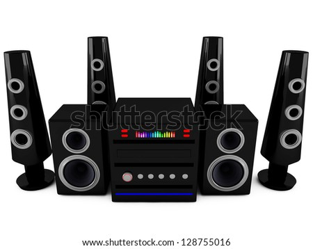 3d Stereo speakers - stock photo