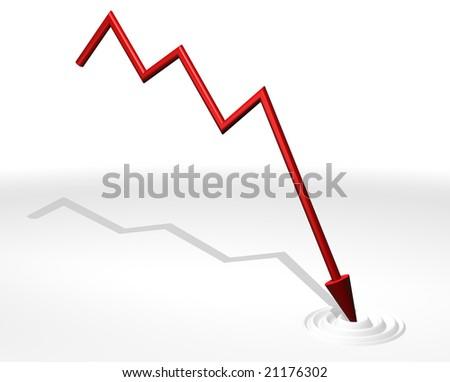 3D stock market symbol - stock photo