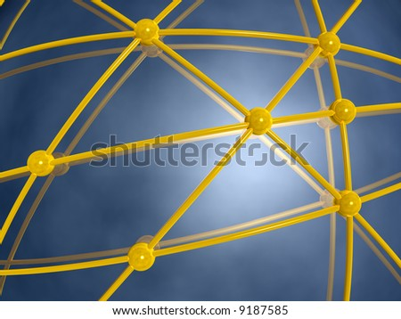 3d structure of computer network or communication system
