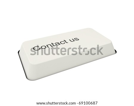 3d support button - stock photo