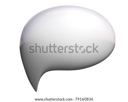 3d talking bubble - stock photo