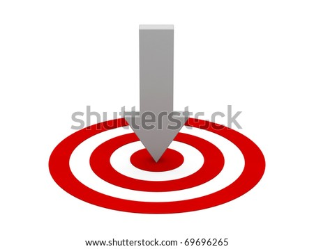 3d target and arrow