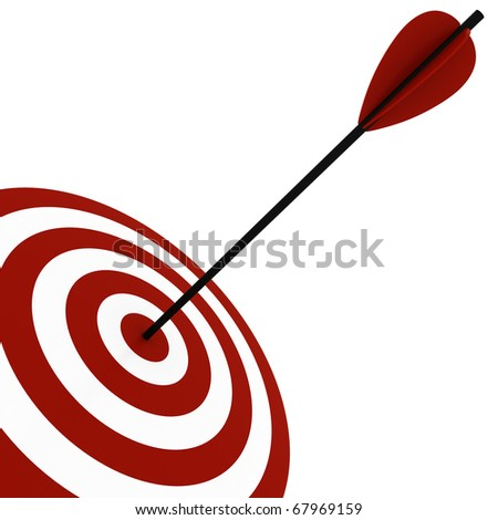 3d target and arrows, isolated on white - stock photo