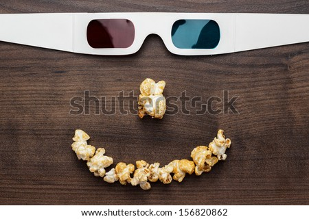 3d technology conceptual photo of smiling face - stock photo