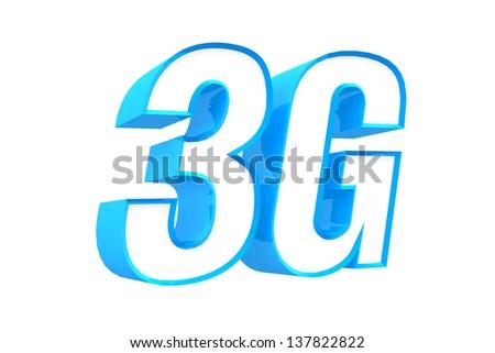 3D Telecom Icon 3G - stock photo