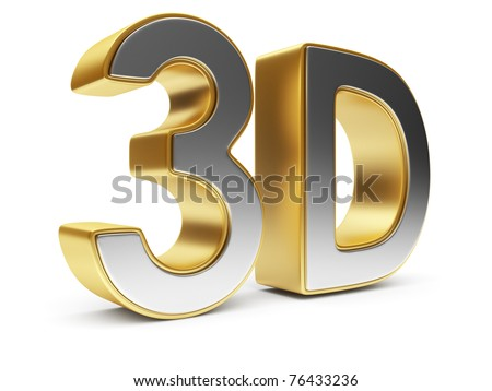 3D text. Entertainment cinema. Isolated icon
