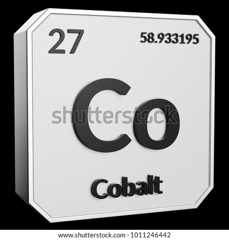 3 D Text Chemical Element Cobalt Atomic Stock Illustration