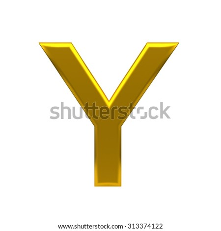 3D text, with big golden fonts isolated on white background. Rendered illustration.