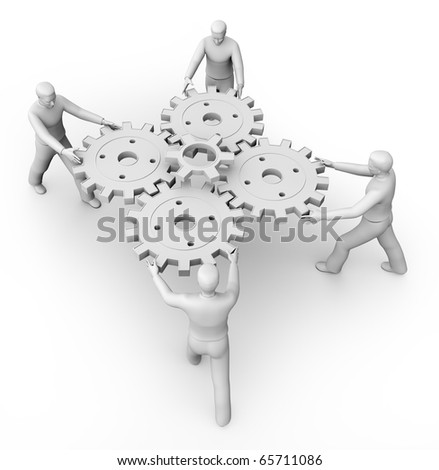 3d The main part of the mechanism. - stock photo