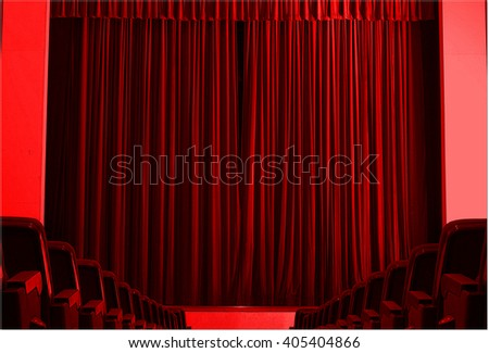 3d,The red stage as the blood - stock photo
