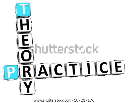3D Theory Practice Crossword on white background