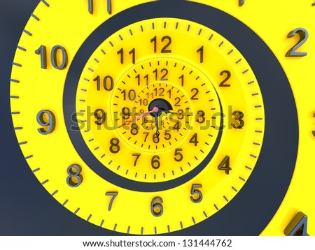 3D Time concept. - stock photo