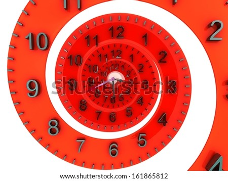 3D Time concept. - stock photo