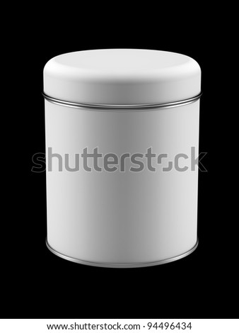 3D Tin Can design product package, isolated
