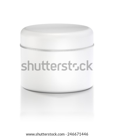 3D Tin Can white color product package type cylinder design, object isolated - stock photo