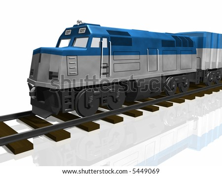 3D Train on tracks isolated