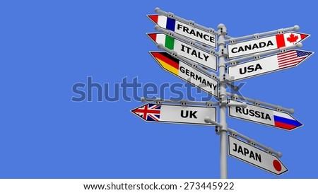 3D. Travel, Globe, World Map. - stock photo