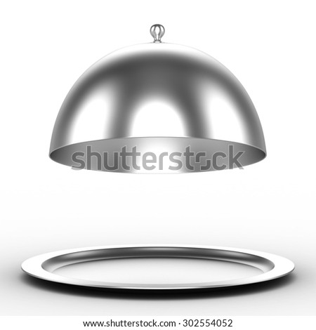 3d tray on a white background for the object - stock photo