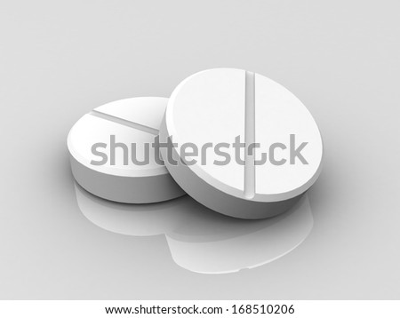 3D two pills  - stock photo