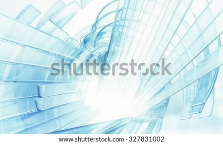 3D Virtual Data - stock photo