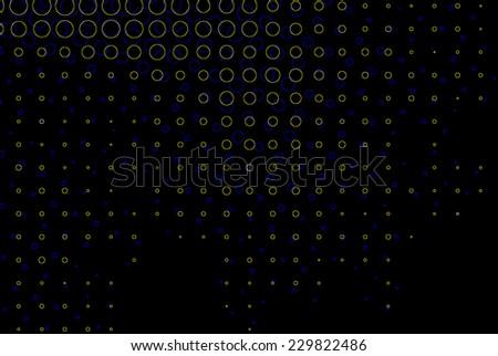 3d vision illusion black circles background - stock photo