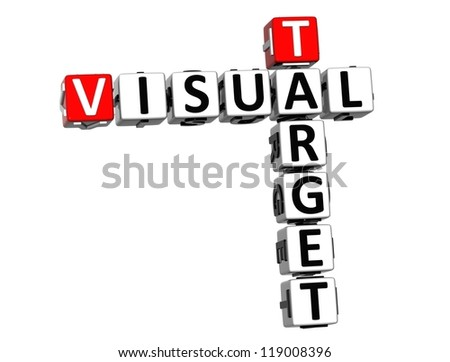 3D Visual Target Crossword on white background - stock photo