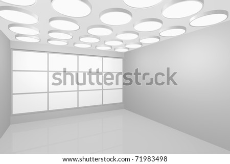 3D visualization of a modern interior empty new room
