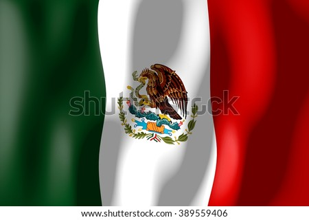 3D weaving flag - Mexico. - stock photo