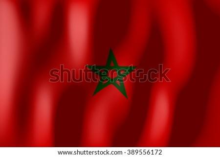 3D weaving flag - Morocco. - stock photo