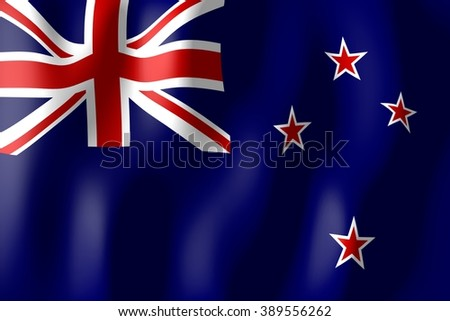 3D weaving flag - New Zealand. - stock photo