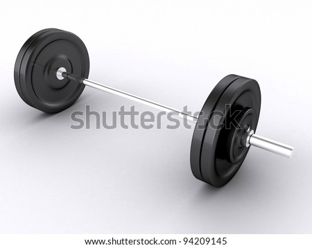 3D weight isolated on white 3d illustration - stock photo