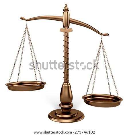 3D. Weight Scale, Balance, Mental Illness. - stock photo