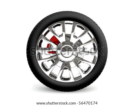 3D wheel - stock photo