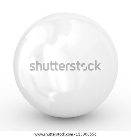 3D white ball - stock photo