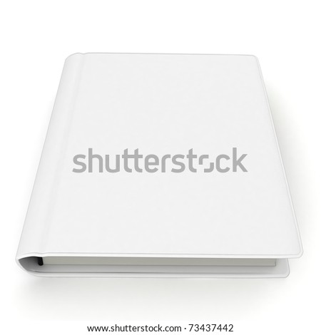 3d  white book with blank cover isolated on white - stock photo