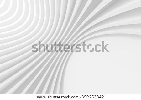 3d White Circular Background. Abstract Architecture Design - stock photo